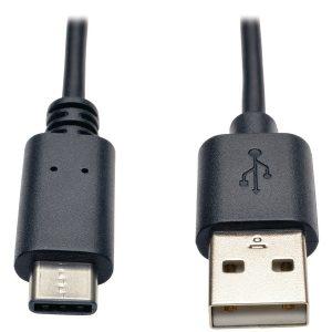 Tripp Lite U038-006 A-Male to USB-C Male USB 2.0 Cable (6ft)