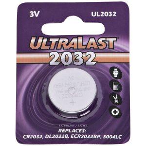 Ultralast UL2032 UL2032 CR2032 Lithium Coin Cell Battery