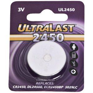 Ultralast UL2450 UL2450 CR2450 Lithium Coin Cell Battery