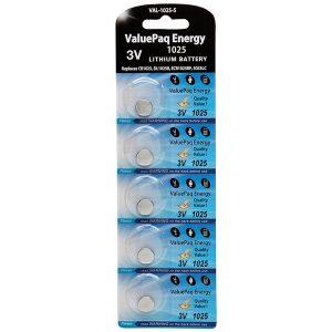 Dantona VAL-1025-5 ValuePaq Energy 1025 Lithium Coin Cell Batteries
