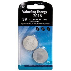 Dantona VAL-2016-2 ValuePaq Energy 2016 Lithium Coin Cell Batteries