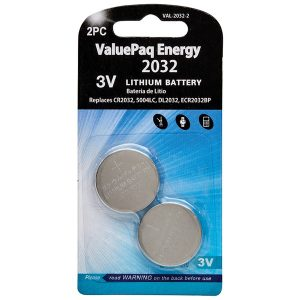 Dantona VAL-2032-2 ValuePaq Energy 2032 Lithium Coin Cell Batteries
