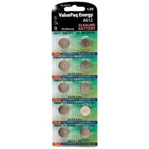 Dantona VAL-AG12-10 ValuePaq Energy AG12 Alkaline Button Cell Batteries