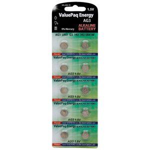 Dantona VAL-AG3-10 ValuePaq Energy AG3 Alkaline Button Cell Batteries