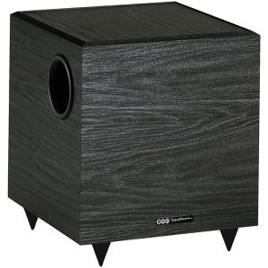 BIC America V80 100-Watt 8-Inch Down-Firing Powered Subwoofer for Home Theater and Music