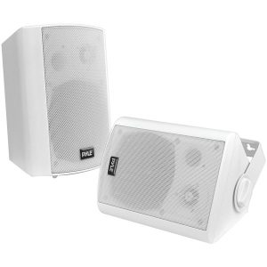"Pyle Home PDWR61BTWT 6.5"" Indoor/Outdoor Wall-Mount Bluetooth Speaker System (White)"