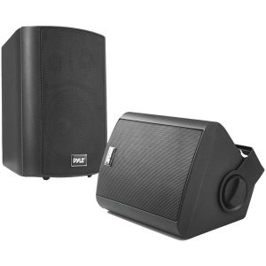 "Pyle Home PDWR52BTBK 5.25"" Indoor/Outdoor Wall-Mount Bluetooth Speaker System (Black)"
