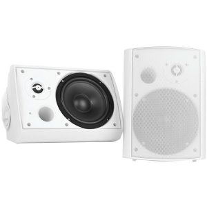"Pyle Home PDWR51BTWT 5.25"" Indoor/Outdoor Wall-Mount Bluetooth Speaker System (White)"