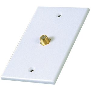 RCA VH61R Single Coaxial In-Line Wall Plate
