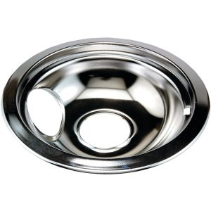 "Stanco Metal Products 751-6 Chrome Replacement Drip Pan for Whirlpool (6"")"