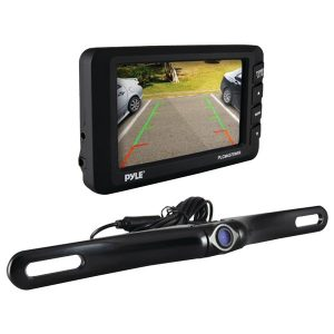 "Pyle PLCM4375WIR 4.3"" LCD Monitor & Wireless Backup Camera with Parking/Reverse Assist System"