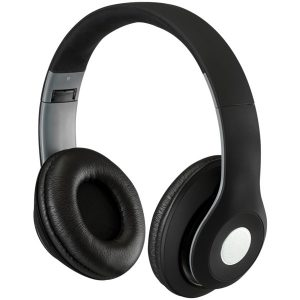 iLive IAHB48MB Bluetooth Over-the-Ear Headphones with Microphone (Matte Black)