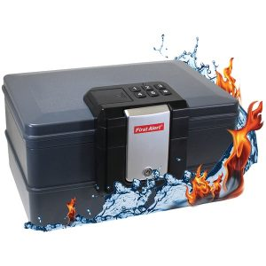 First Alert 2602DF Waterproof Fire Chest with Digital Lock (.39 Cubic Ft)