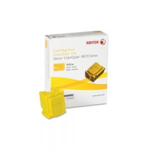 Xerox Genuine Yellow Solid Ink 6 Sticks For Xerox 8870 8880 Series 108R00952