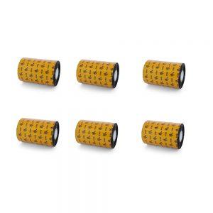 Zebra 4.33x1476 Wax-Resin Thermal Transfer Ribbon Pack of 6 06100BK11045