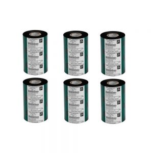 Zebra Genuine Resin Ribbon 5095 5.16x1476' Black 6 Rolls Case 6-Pack 05095BK13145