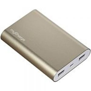 myCharge RZ12D Razor Ultra Portable Power Bank - 12000 mAh - Gold