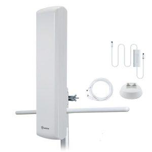 ANTOP Antenna Inc. AT-402BV Big Boy AT-402BV Flat-Panel Smartpass-Amplified Outdoor HDTV Antenna