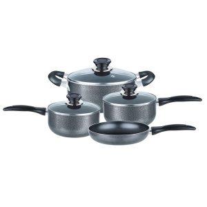 Brentwood Appliances BPS-207G 7-Piece Aluminum Non-Stick Cookware Set (Granite)