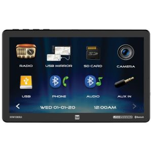 Dual XVM1000UI XVM1000UI 10.1-Inch Single-DIN Mechless AM/FM Receiver with Bluetooth