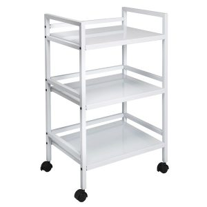 Honey-Can-Do CRT-03090 Metal Rolling Cart (White)