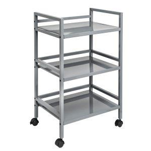 Honey-Can-Do CRT-03091 Metal Rolling Cart (Gray)