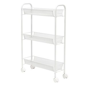Honey-Can-Do CRT-08582 Slim Rolling Wire Cart with 3 Baskets