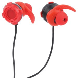 Lvlup LU701-RED Gaming Earbuds with Removable Microphone (Red)