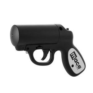 Mace Brand 80585 Matte Black Pepper Gun with Strobe LED