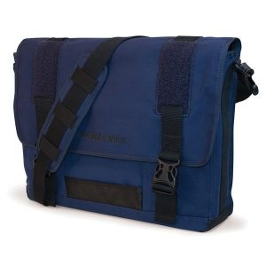 "Mobile Edge MECME3 Eco-Friendly Canvas Messenger Bag for 17.3"" Notebooks (Navy)"