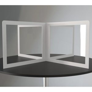 No Brand XSS48 4-Way Circle or Square Desk Divider (48-Inch x 24-Inch)