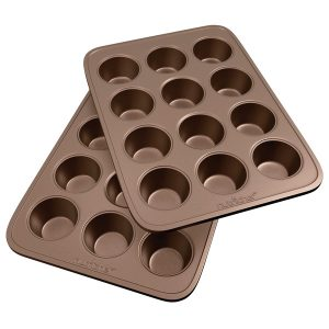 NutriChef NC2TRCP3 Non-Stick Carbon Steel Muffin Pans