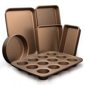 NutriChef NCBK6TR7 6-Piece Nonstick Kitchen Bakeware Set