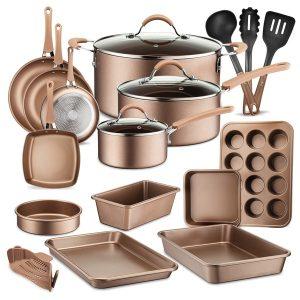 NutriChef NCCW20S 20-Piece Kitchenware Pots and Pans Set