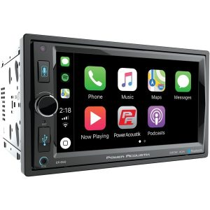 "Power Acoustik CP-650 6.5"" Double-DIN In-Dash Digital Media Receiver with Bluetooth & Apple CarPlay"