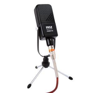 Pyle PDMIC70 Desktop Large-Diaphragm Condenser Microphone Kit