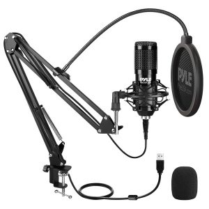 Pyle PDMIKT140 Desktop USB Podcast Microphone Kit