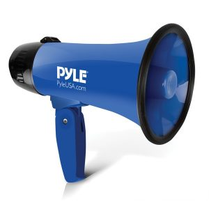Pyle PMP21BL Battery-Operated Compact and Portable Megaphone Speaker with Siren Alarm Mode (Blue)