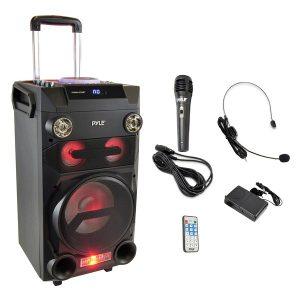 Pyle Pro PWMA335BT Portable Bluetooth Karaoke Speaker Radio