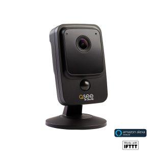 Q-See QCW4K1MCB16 4K UHD Smart Home Wi-Fi Cube Camera (Black)