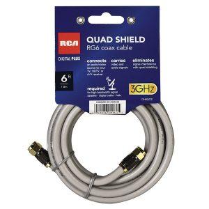 RCA DH6QCE Quad-Shield RG6 Coax Cable