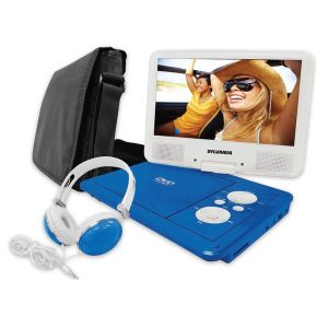 SYLVANIA SDVD9060-B-COMBO-BLUE 9-Inch Swivel Screen PDVD USB with Deluxe Bag and Matching Headphones