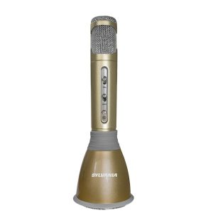 SYLVANIA SPMC100-GOLD Karaoke Bluetooth Speaker and Microphone