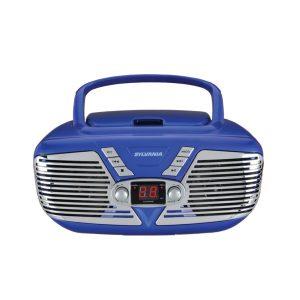 SYLVANIA SRCD211-BLUE Retro Portable CD Radio Boombox (Blue)