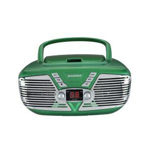 SYLVANIA SRCD211-GREEN Retro Portable CD Radio Boombox (Green)
