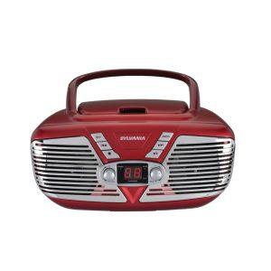 SYLVANIA SRCD211-RED Retro Portable CD Radio Boombox