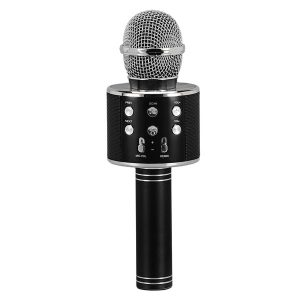 Supersonic SC-904BTK- Black Wireless Bluetooth Microphone with Built-in Hi-Fi Speaker (Black)