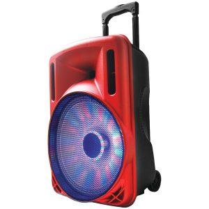 """Supersonic iq-3212djbt-RD 12"""" Portable Bluetooth DJ Speaker (Red)"""