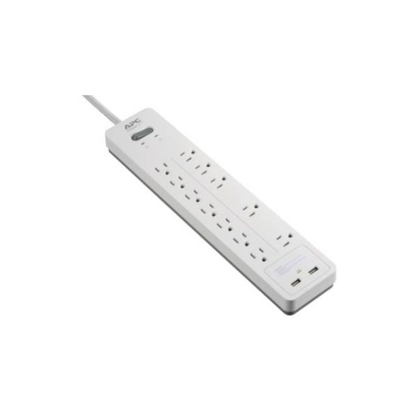 APC PH12U2W Home Office SurgeArrest 12 Outlets with 2 USB charging ports (5V