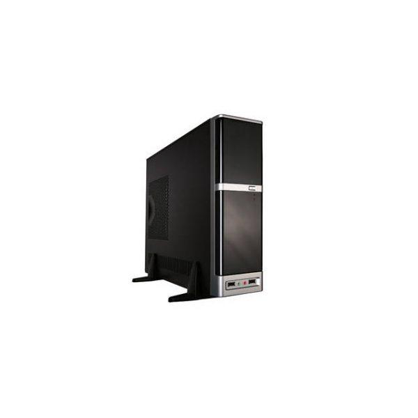 APEX DM-387 275W Slim MicroATX Case (Black/Silver)